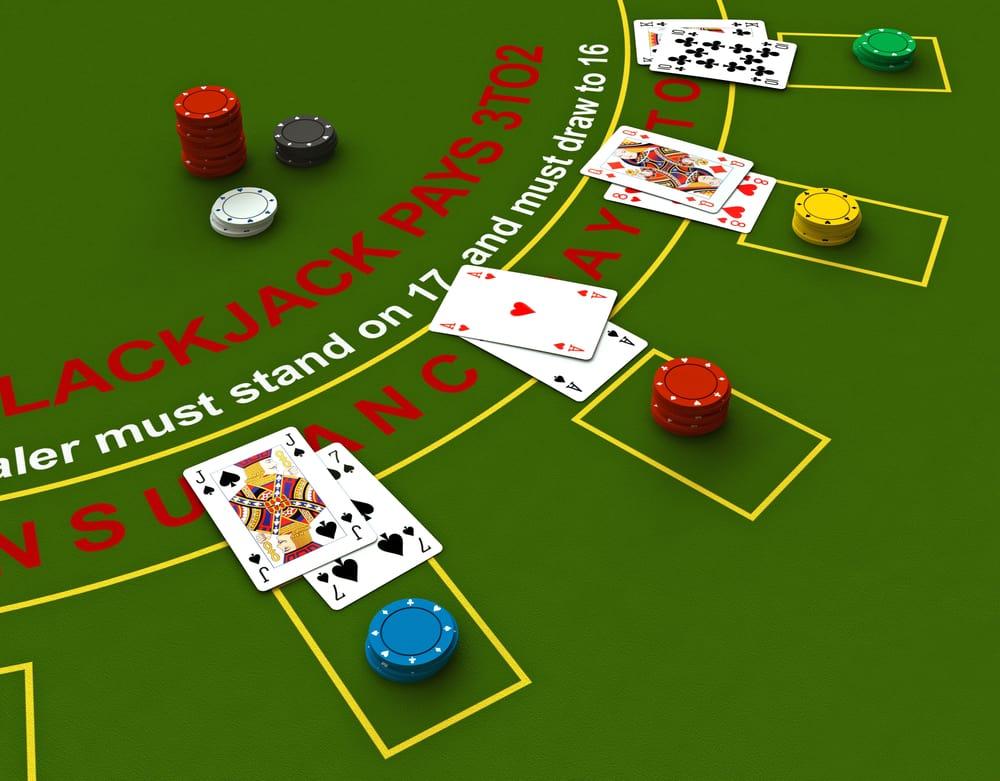 De mulige træk i Blackjack